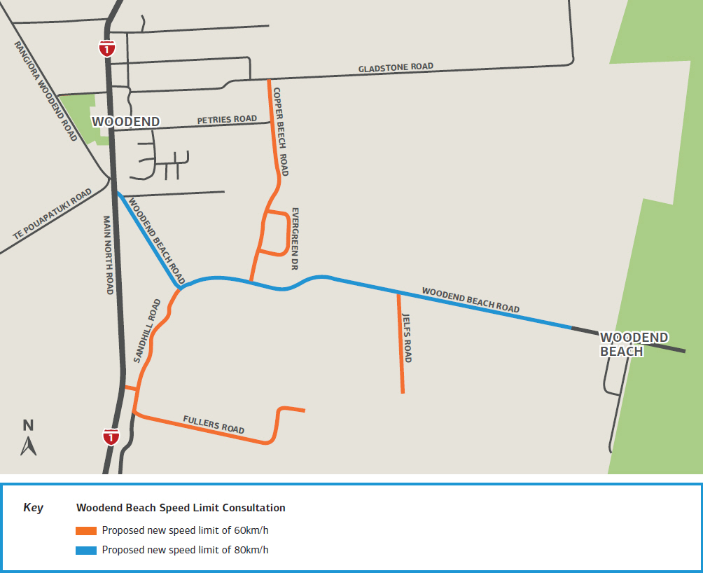 Woodend Speed Limit Review Map