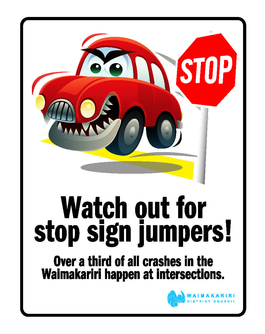 Watch out for stop sign jumpers