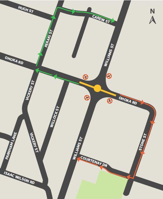 Detour route map