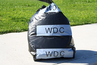 Council official rubbish bag