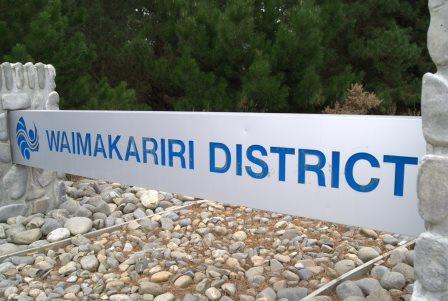 Waimakariri District sign