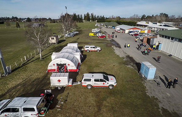 Red Cross Medical Tent and Civil Defence Centre