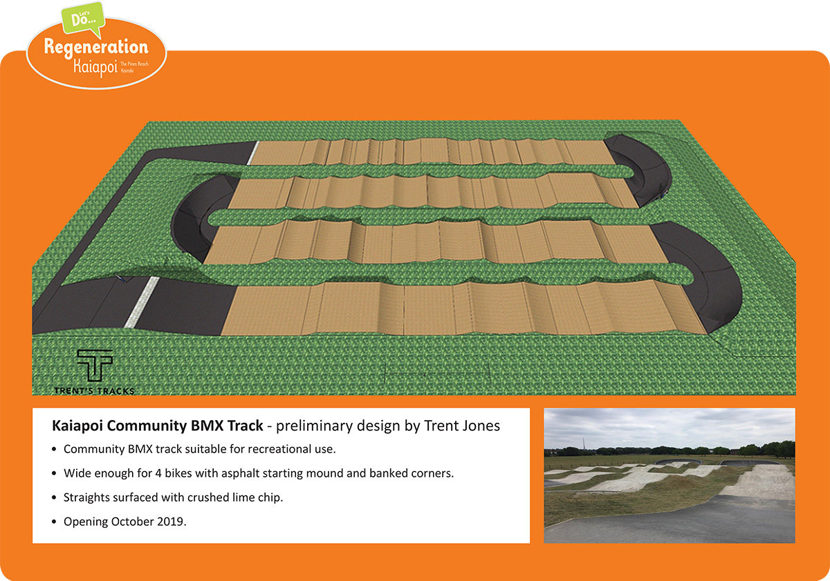 Picture of proposed BMX track being built in Kaiapoi