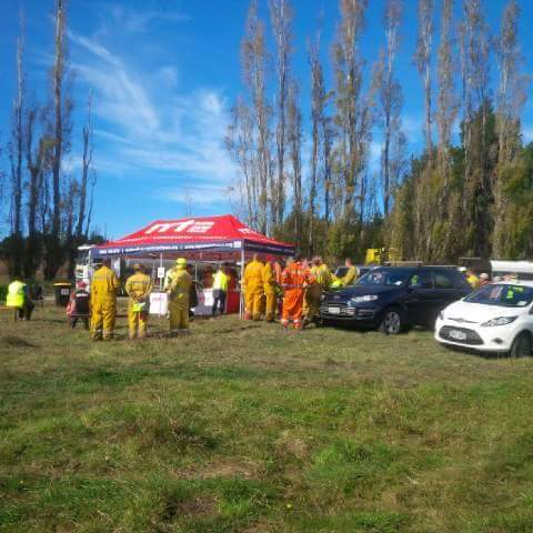 Woodend rural fire exercise