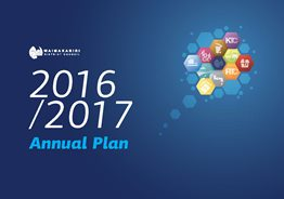Cover of Draft Annual Plan consultation document