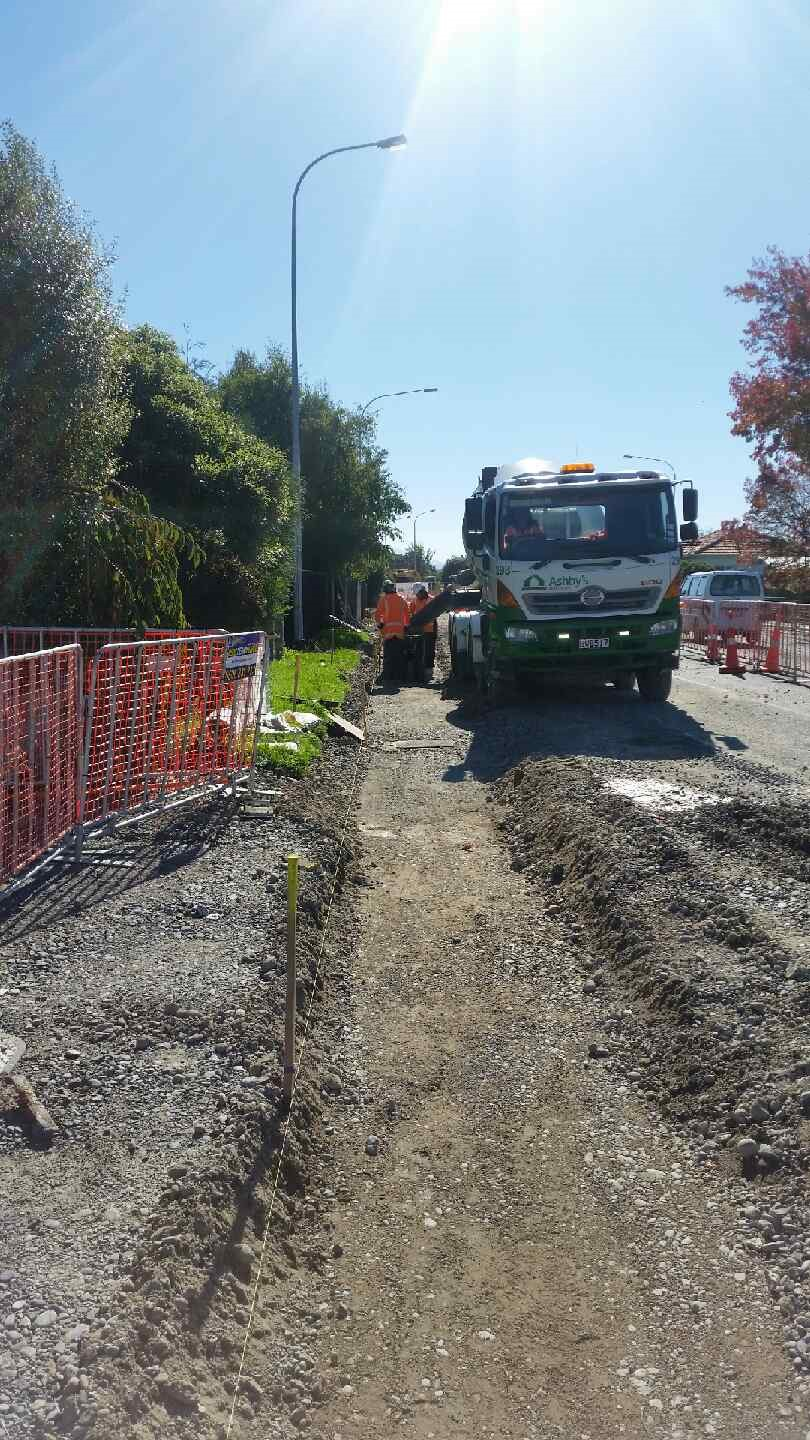 New kerb being poured on Southbrook Road