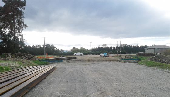 Bridge piles at the new Arterial Road