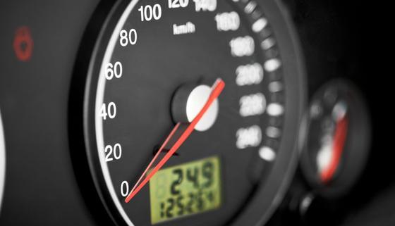 Image of car speedometer