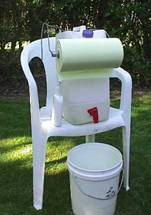 Hand washing set-up