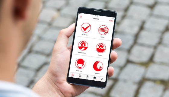NZ Red Cross App in Hand