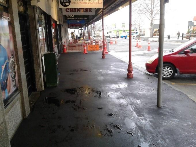 New asphalt footpath on Victoria Street