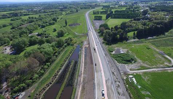 Western Belfast Bypass Aerial Photo