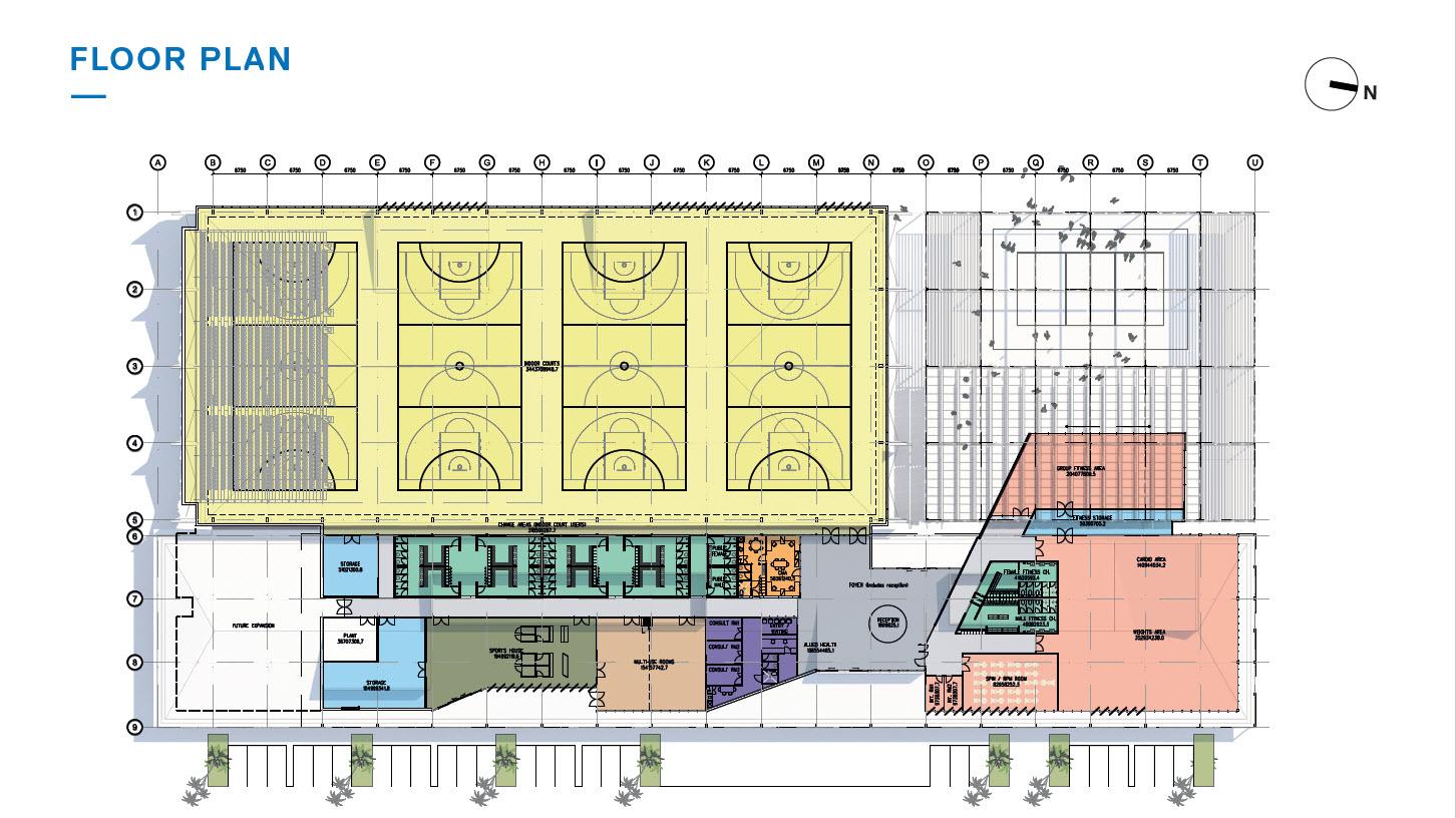 Multi-Use Facility Floor Plan