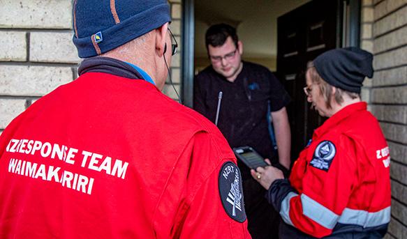 Field teams go door-to-door.