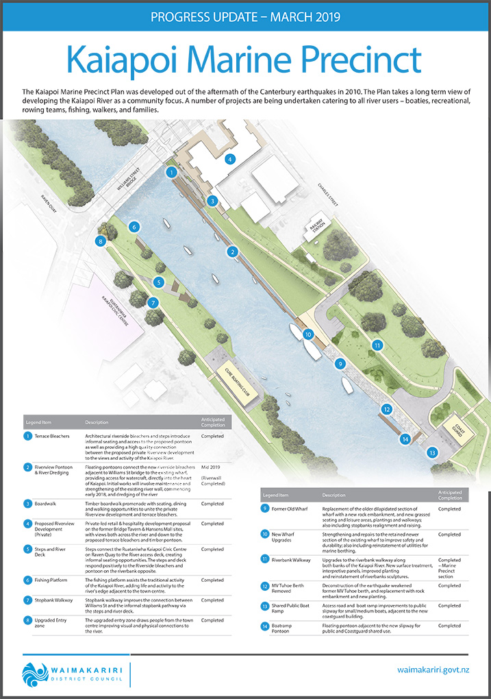 Plan of the Kaiapoi Marine Precinct
