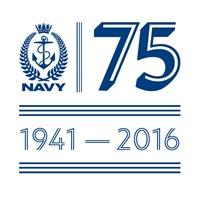 Navy 75 anniversary logo