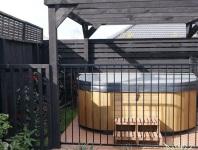 Fenced spa pool