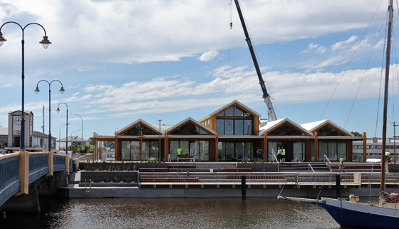 Image of Riverview Terraces and Boardwalk from across the Kaiapoi River
