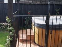 Spa pool gate
