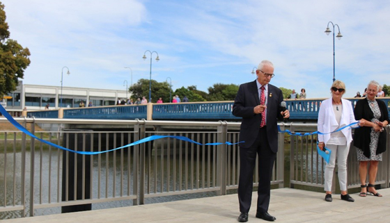 Image of Mayor David Ayers Opening Kaiapoi Riverview Terraces and Boardwalk