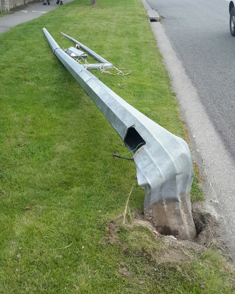Downed power pole