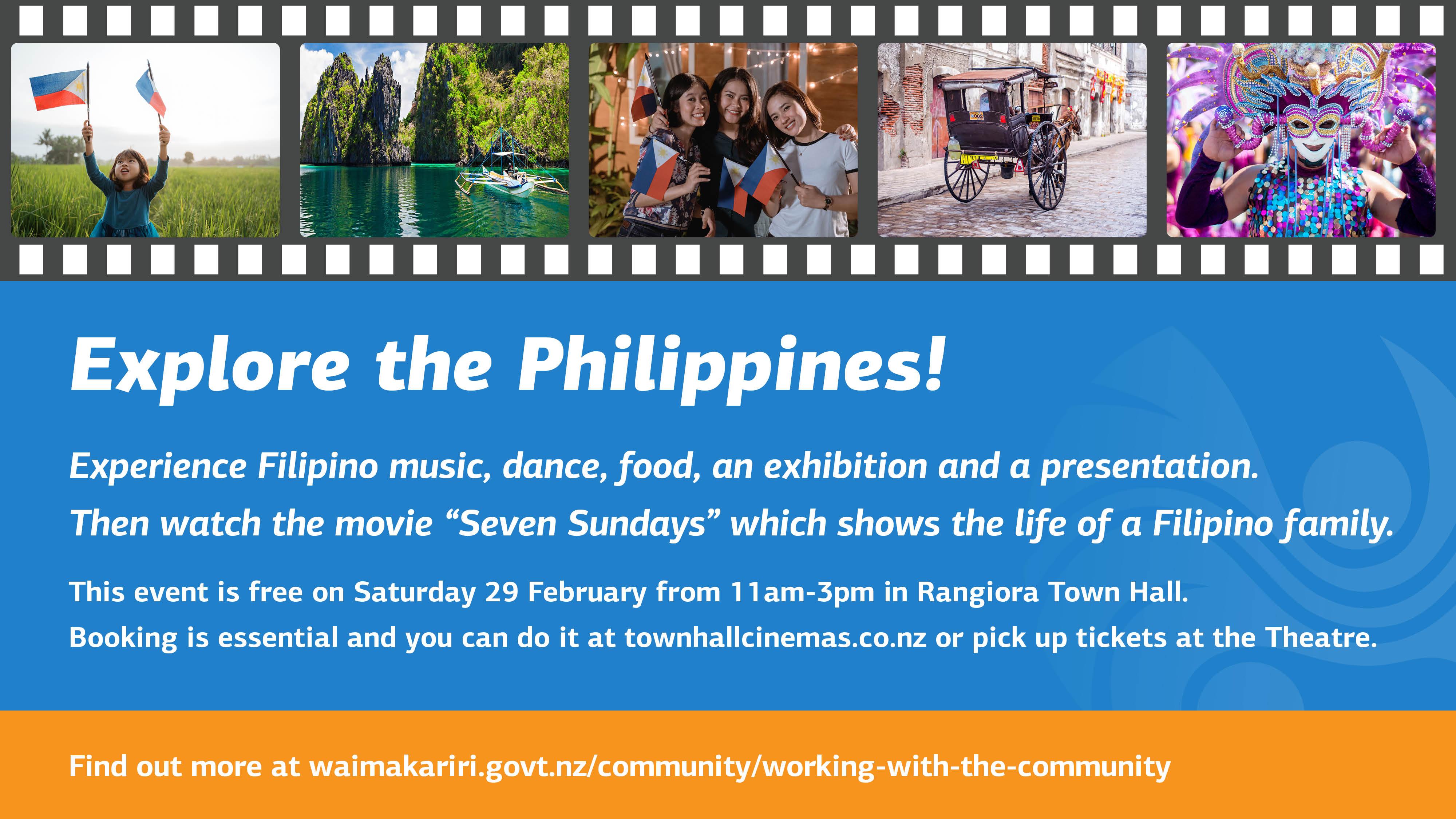 Explore the Philippines movie presentation - 29 Feb at 11am