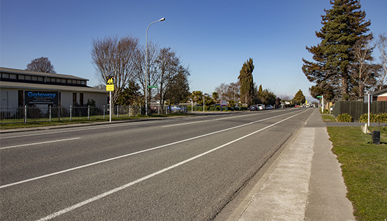 Southbrook road looking south from Denchs Road