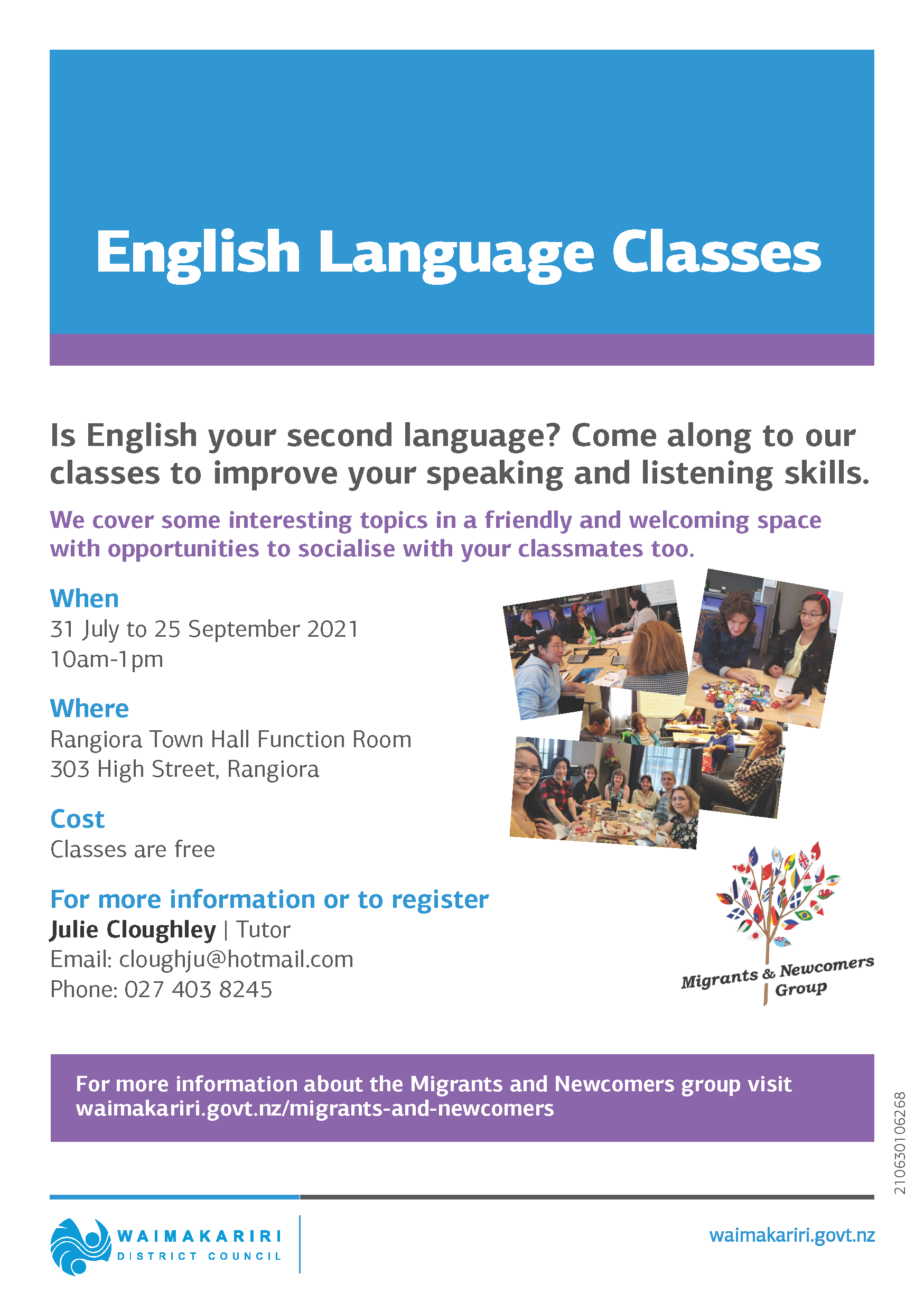 English classes poster