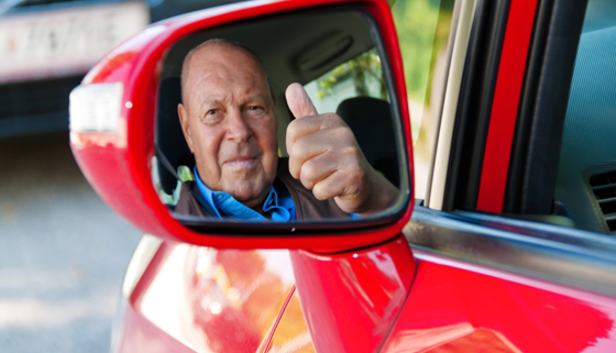 Older person driving