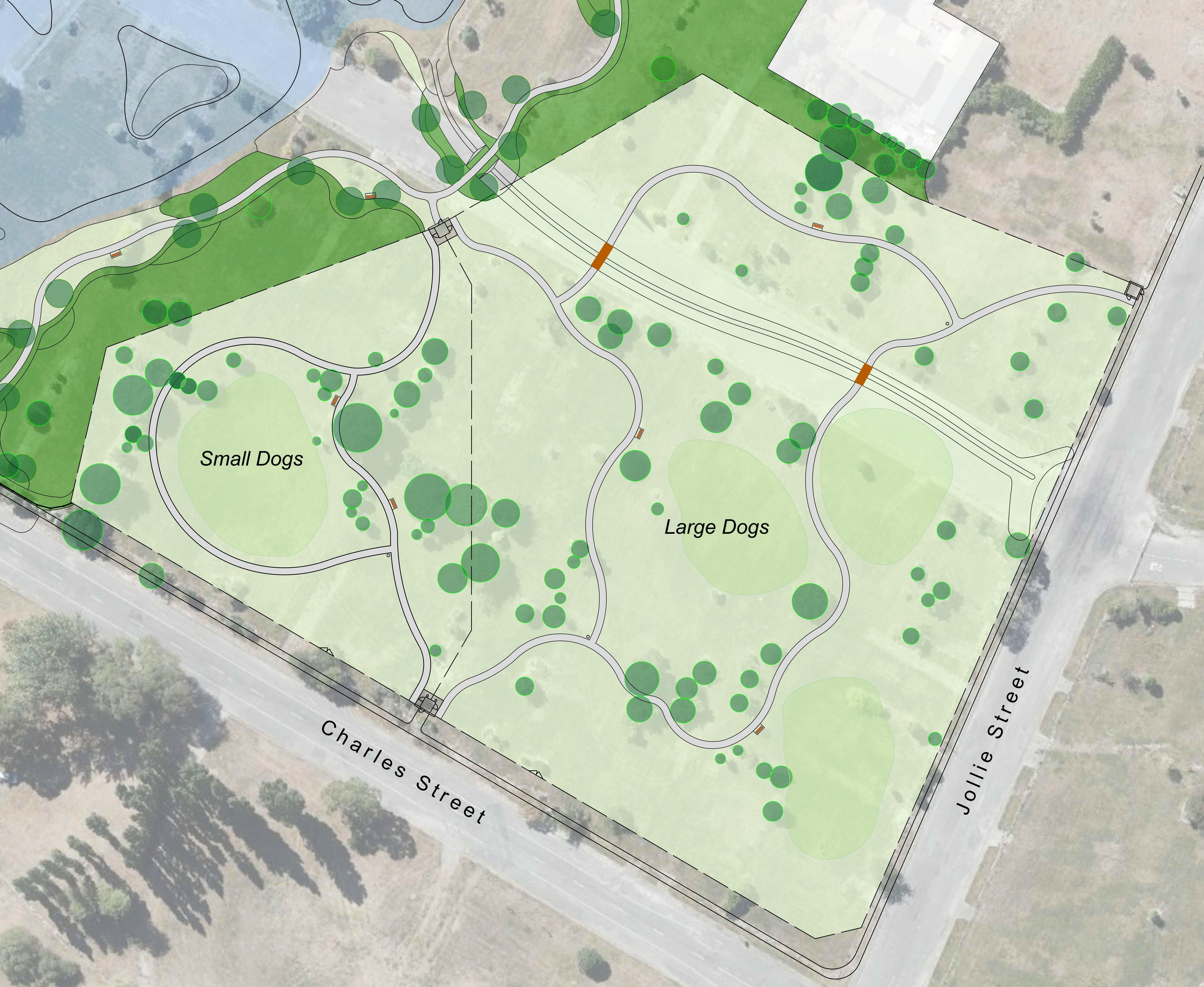 map of Kaiapoi Dog Park