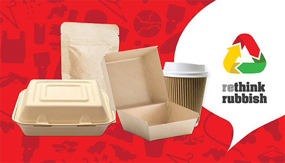 Images of non-compostable packaging items